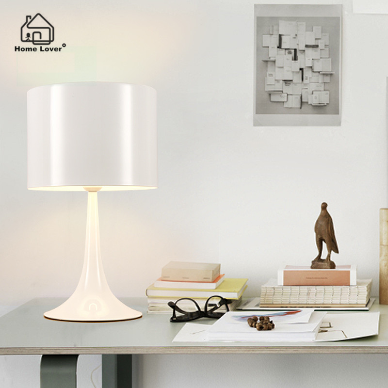 Modern pendant lamp for Living room Bedroom light abajur para quarto E27 Holder Black/White luminaria de mesa desk table lamp купить