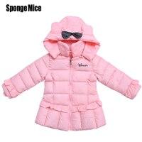 2017 moda Dla Dzieci dziewczyny zima płaszcz Parki Kurtki Zimowe dla dzieci Dla Dzieci Odzież dla dzieci kurtki