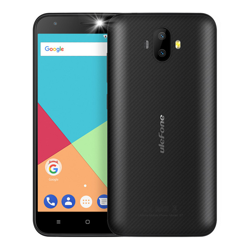 Ulefone s7 5.0 inch Android 7.0 Black Smartphone. 8MP Dual camera. 8GB Quad core cellphone android 7.0 5 inch Dropshipping