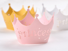 360pcs/lot Laser Cut Paper Cake Surrounding Edge Princess Crown Pattern Snack Wrapper Banquet Grigger Wrapping wc501
