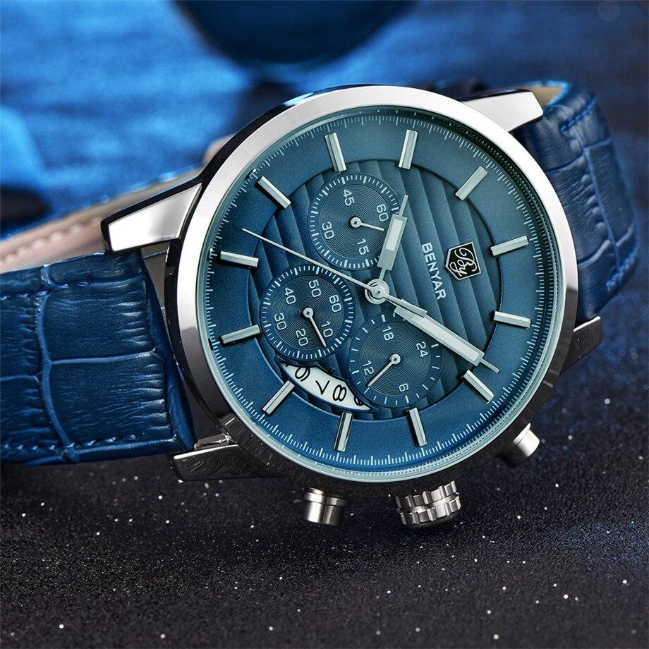 BENYAR Watch Men Waterproof Chronograph Business Dress Mans Watches Date Quartz Wristwatches Male Hour relogio masculino 2017 (13)