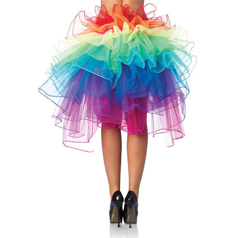 2017, Женская юбка-пачка для выступлений, юбка-пачка для взрослых, радужная юбка, юбка принцессы, плотная балетная/латинская/Современная Танцевальная юбка для взрослых