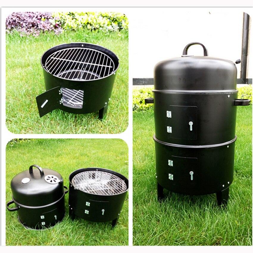Four fumé de haute qualité, barbecue au charbon de bois, gril extérieur, gril fumé extérieur 40*80 CM fosses de barbecue multifonctions
