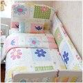 5 unids cabrito algodón 100% Baby para niños del lecho de producto de parachoques Cartoon sábana funda de almohada para cuna cuna
