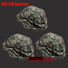 3PCS/Set 1/6 Scale DRAGON Cover Camouflage WW2 GERMAN HELMET SS Solider for 12 Soldier Action figure Clothes accessories Doll
