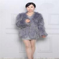 Новая мода Дамская Шуба замши одежда коса волос Плетеный куртка