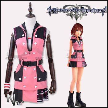 Kingdom Hearts III Costume Kairi Cosplay Costume Outfit Combat Women Halloween Carnival Cosplay Costume Adult Suit