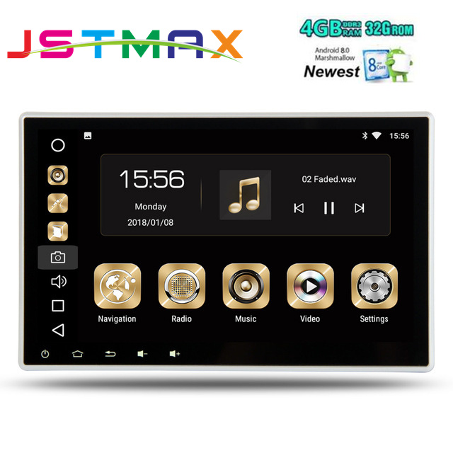 10.1 Octa-Core Android 8.0 OS 2 Din Car DVD Multimedia Two Din Car Navigation GPS Double Din Car Radio with 4GB RAM 32GB ROM 2 din