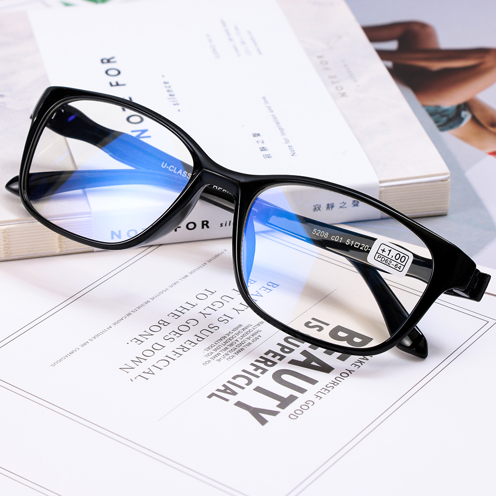 Eyewear Magnifying Reading-Glasses Elders Rimless Vision-Care Transparent Unisex 1PC