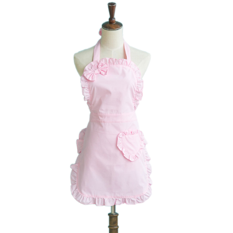 Lolita rose femmes Cuisine coton Tablier femme de chambre à volants Avental de Cozinha Divertido Tablier Cuisine pinabefore cuisson Cuisine Tablier