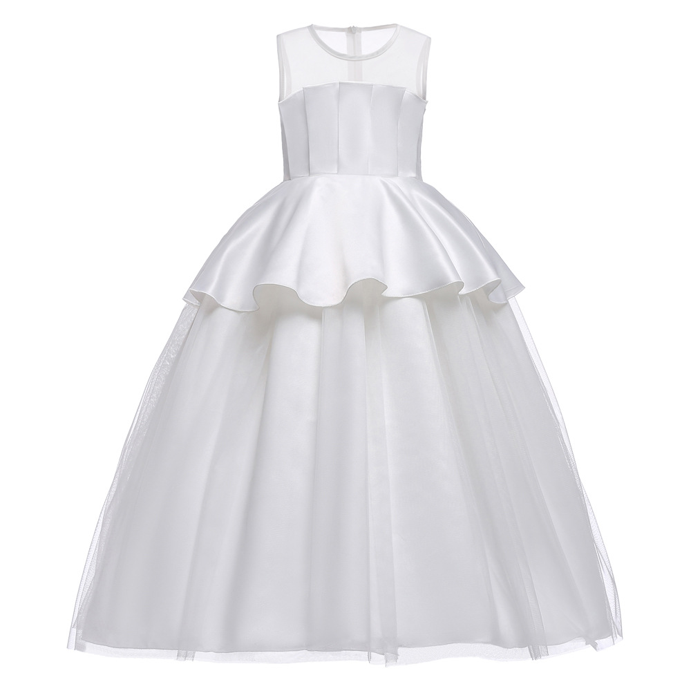 High Quality Summer Girls Dress Lace Elegant Children Clothing Performance Kids Dresses For Girls Princess Wedding Dress Costume summer party girls dress elegant performance kids dresses for girls clothes children princess wedding dress costume