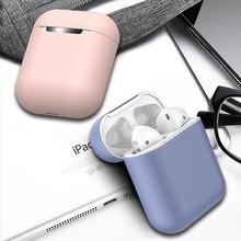 Miękkie silikonowe słuchawki etui do Airpods Ultra Slim, odporna na wstrząsy, ochronna słuchawki pokrowiec przypadku Airpods do słuchawek 12 kolorów