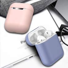 Soft Silicone Earphone Case For Airpods  Ultra Slim Shockproof Protective Earphone Bag Cover Case For Airpods Headphone 12 Color
