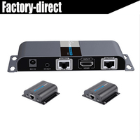 Новый 2 порт HDMI utp 1x2 EXTENDER SPLITTER с ИК по cat5e/6 кабеля до 50 м (1 Отправитель + 2 приемники в комплекте)