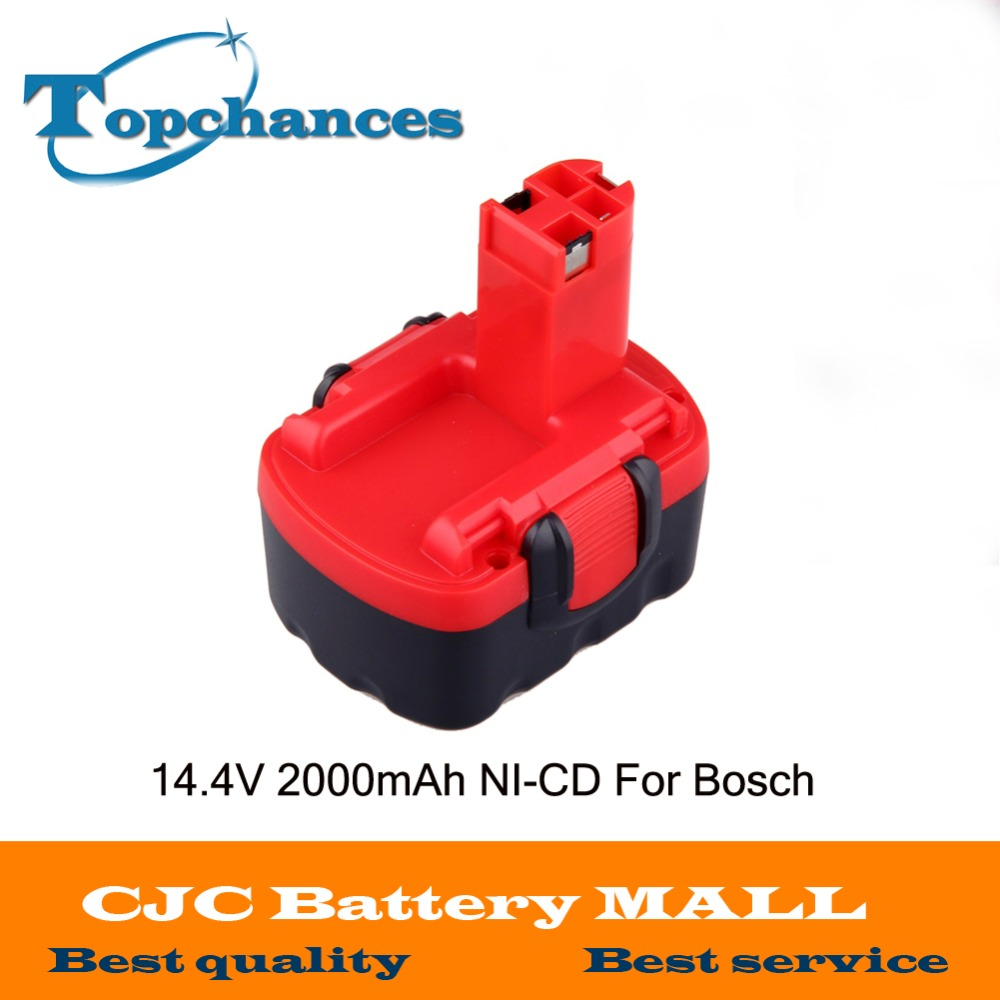 New BAT038 BAT040 <font><b>14.4V</b></font> 2000mAh Rechargeable Battery Pack Power Tools Battery Cordless Drill Replacement for Bosch 3660CK Ni-CD image