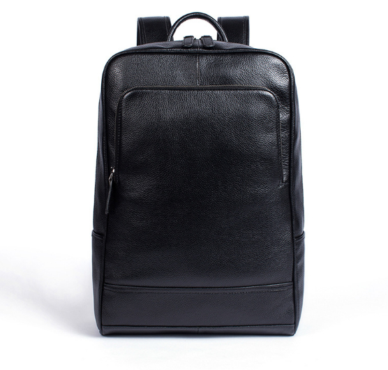 2018 casual business Genuine leather backpack wear large capacity men and women cow leather laptop backpack