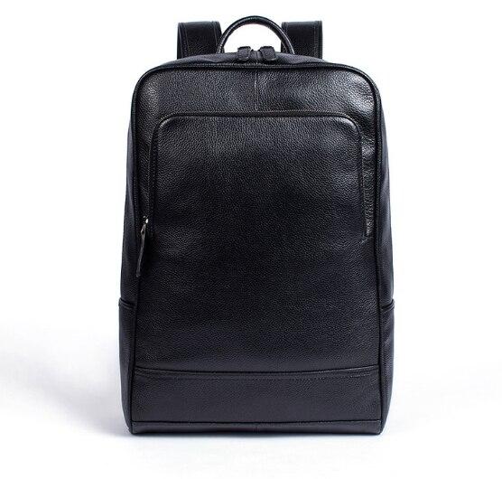 2018 décontracté business sac à dos en cuir véritable porter grande capacité hommes et femmes vache sac à dos en cuir pour ordinateur portable