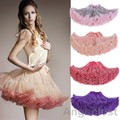 New Fashion Woman's Chiffon Petticoat 2 Layered Tutu Skirts Girls Ballet Dance Pettiskirt Mini skirt Petticoat Underskirt Cheap