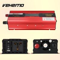 1500W Digital LCD Display Power Inverter Automotive Auto Car Vehicle Red