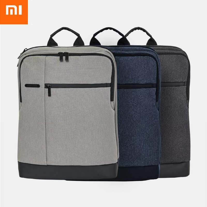 все цены на Original Xiaomi 90FUN Classic Business Backpack Women Men Large Capacity Computer Bagpack bag Students Mochila Backpacks