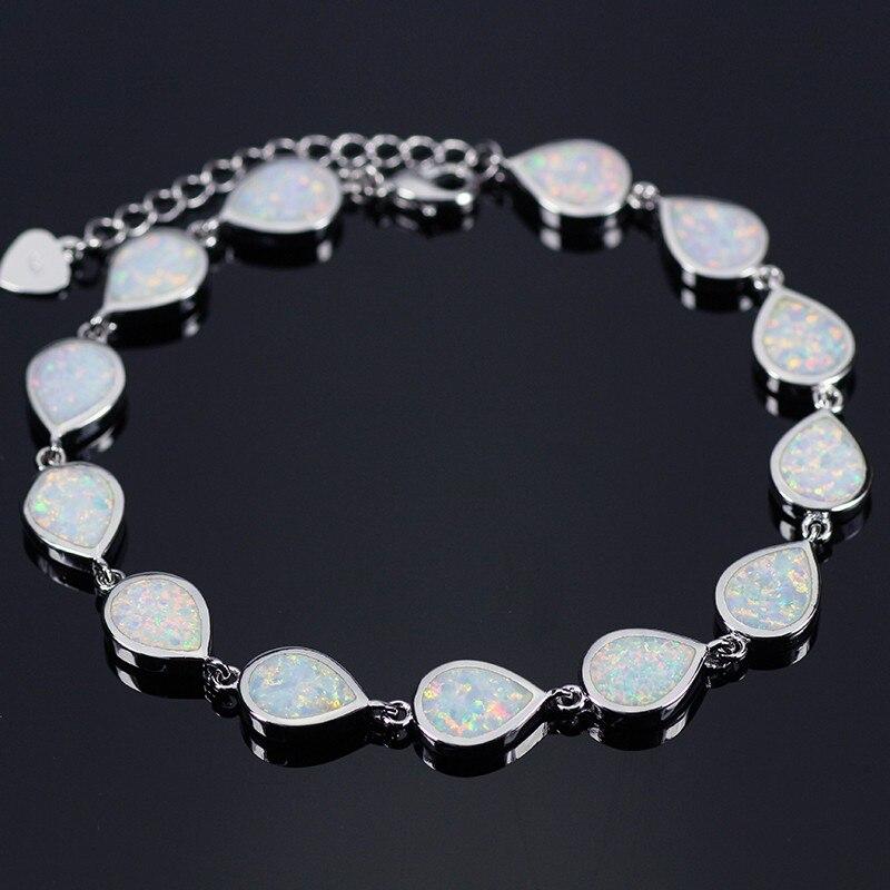 SZ0030 White Opal Bracelets For Women Water Drop Friendship Bracelets for Women Bijoux Wedding Jewelry Jewelry friendship bracelets