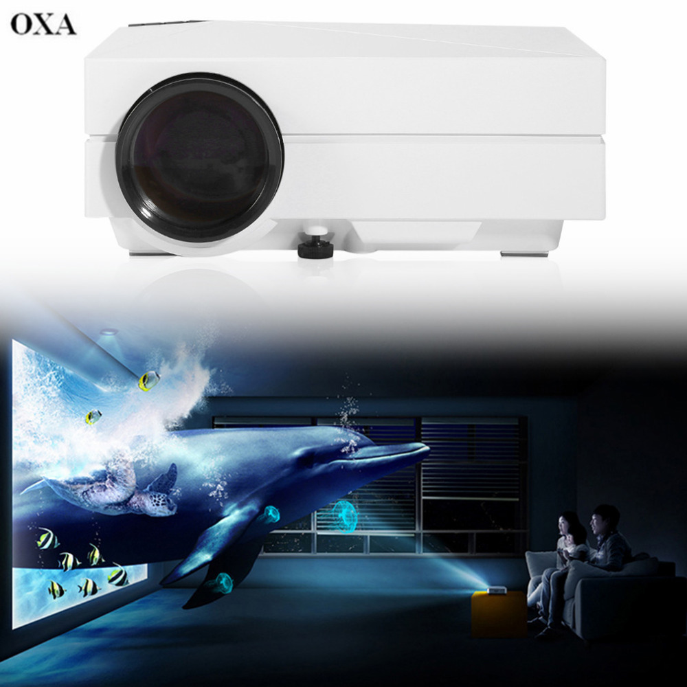 OXA Professional GM60 1000 Lumens Mini LED Projector Cost-efficient High Resolution Dustproof Low Consumption Hot Sale in stock!