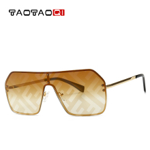 TAOTAOQI Oversized Sunglasses Fashion Sun Glasses Brand Woman Retro Gl