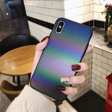 Luxury Gradient Rainbow Luminous Phone Case For iphone X XS Max XR 7 8 6 6S Plus Holographic Colorful Reflective Glitter Cover