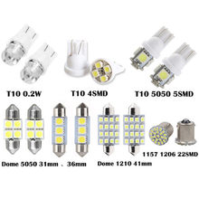14 Pcs Penggantian Bohlam 2X (31 Mm 6smd, 36 Mm 3smd, 41 Mm 16smd, 2T10 5smd, T10 0.2 W, T10 4-SMD 1157 1206 22smd) 19Mar27(China)
