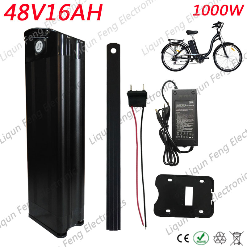 48V 12Ah 350W Electric Bicycle Bike Lithium Battery Cell Pack Silver Fish E-bike