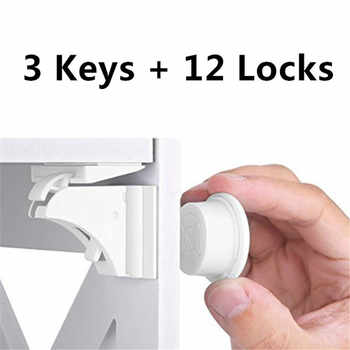 3+12 Pack Magnetic Child Lock Baby Safety Lock Baby Protection Cabinet Door Lock Kids Drawer Locker Security Invisible Locks - DISCOUNT ITEM  0% OFF All Category