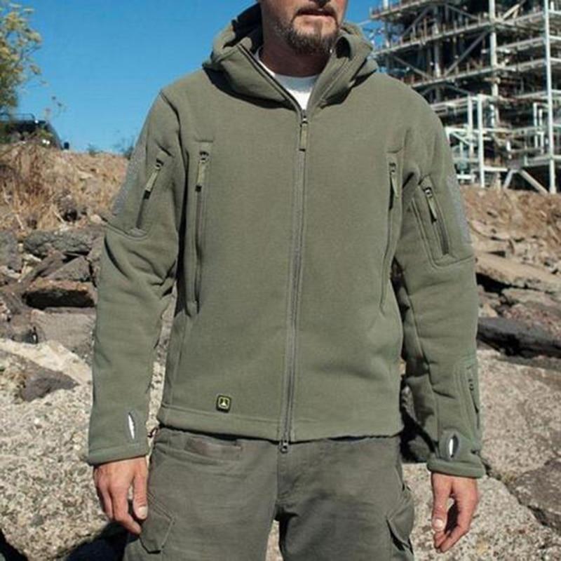 Military US Army Sharkskin Softshell Windproof Jacket Tactical Fleece Sport Jacket Climbing Hiking Outdoor Fleece Lining Jacket