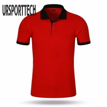 URSPORTTECH Brand Mens Polo Shirts Cotton Short Sleeve Camisas Summer Stand Collar Male Shirt Business & Casual S-3XL