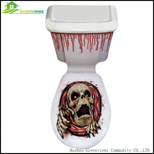 Halloween Party Decoration Supplies Toilet Seat Cover Scary Fancy Dress  Horror Party Halloween Toilet Grabber Cover