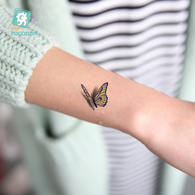 8-26x3-9-inch-3D-Colorful-Body-Art-Temporary-Tattoos-Waterproof-Sticker-With-Butterfly-Flowe-Design (1)