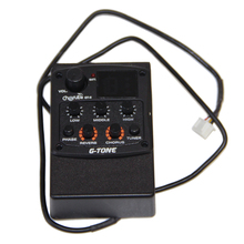 Cherub GT-5 Preamp Piezo Guitar 3-Band EQ Equalizer with Chromatic Tuner and Phase & Reverb & Chorus Effects guitar pick holder