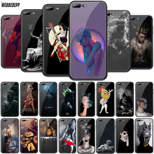 WEBBEDEPP Deep Art Tempered Glass TPU Cover for Apple iPhone 6 6S 7 8 Plus 5 5S SE XR X XS 11 Pro MAX Case webbedepp hot red dead redemption 2 glass phone case for apple iphone xr x xs max 6 6s 7 8 plus 5 5s se