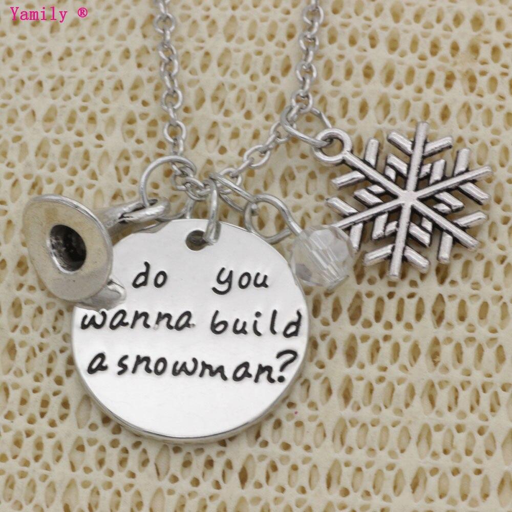 Yamily 10pcs/lot magic hat snow flakes gift Do you wanna build a snowman charm pendant e ...