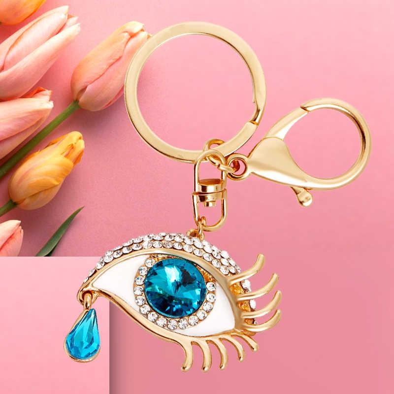 Уникальный брелок для ключей в форме глаза модный металлический для сумочки Подвеска для сумочек сумка Пряжка брелки держатель аксессуары подарок оптовая продажа аксессуары