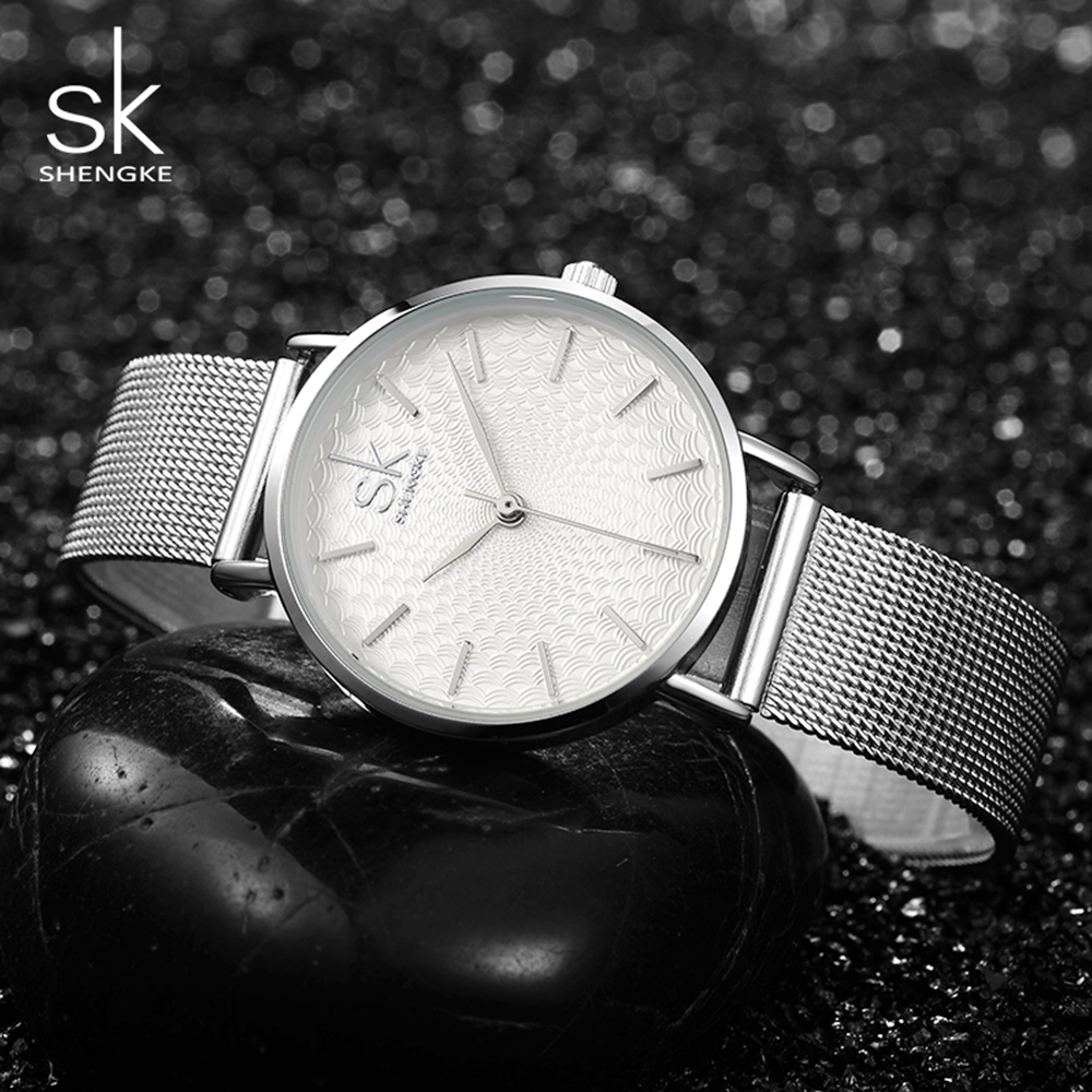 SK Fashion Top Brand Luxury Quartz Wrist Watch Bracelet Women Watches 2017 Ladies Female Clock Women Girl Relogios Feminino weiqin luxury gold wrist watch for women rhinestone crystal fashion ladies analog quartz watch reloj mujer clock female relogios