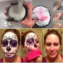 Agitando o mesmo preguiçoso água limpa maquiagem maquiagem puff maquiagem ferramenta pano almofadas removedor toalha rosto limpeza maquiagem