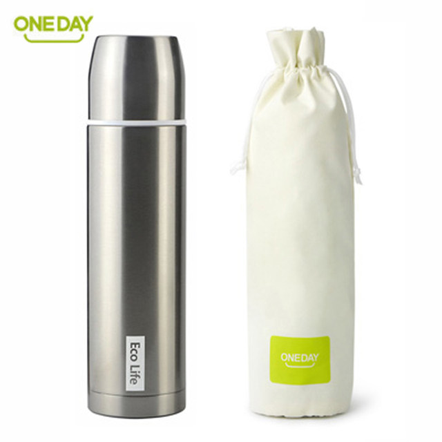 Oneday 450ml Thermos Bottle For Water Thermo Mug Coffee Mugs Thermal Cup Copo With Lid Black Insulated Vacuum Flask