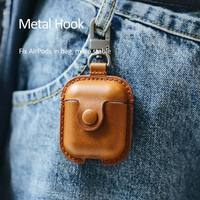 USAMS Wireless Bluetooth Earphone Genuine Leather Luxury Case for Apple Airpods Earphone Protective Cover for Air Pods Wireless Bluetooth Earphone shell