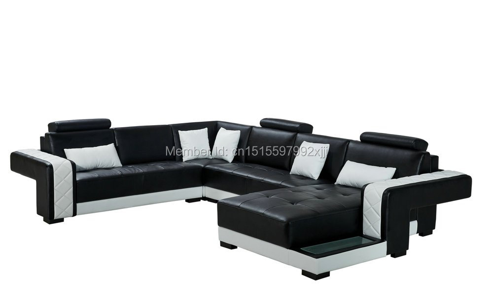 Chaise Sofas For Living Room Bean Bag Chair 2016 Hot Selling Living Room Sets Modern Furniture Sectional U Shape Leather Sofa