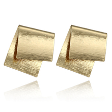 HuaTang Gold Color Exaggerated Stud Earring Geometric Irregular Earrings for Women Fashion Jewelry Gift for Party 6013