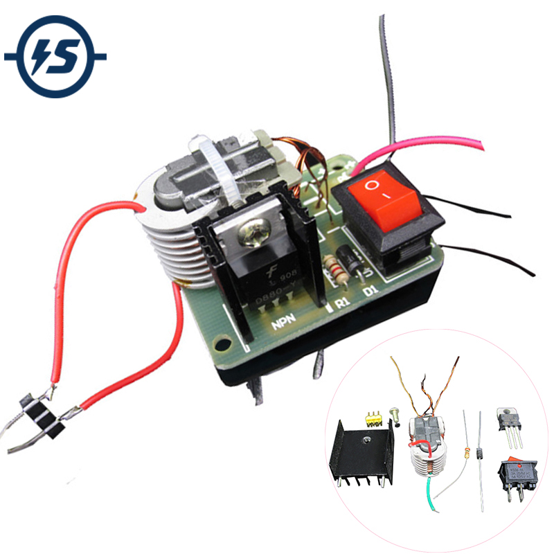 DIY Kits High Voltage Pressure Generator 15KV 15000V Igniter Kit Step-Up Boost Module Coil Transformer Driver Plate Suite 2A(China)