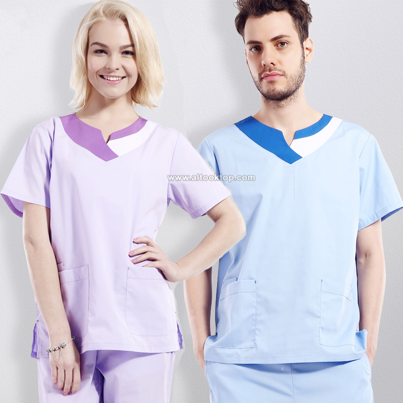 Summer medical clothing uniformes hospital men women nursing scrubs set dental clinics beauty salon nurse uniform medical robe