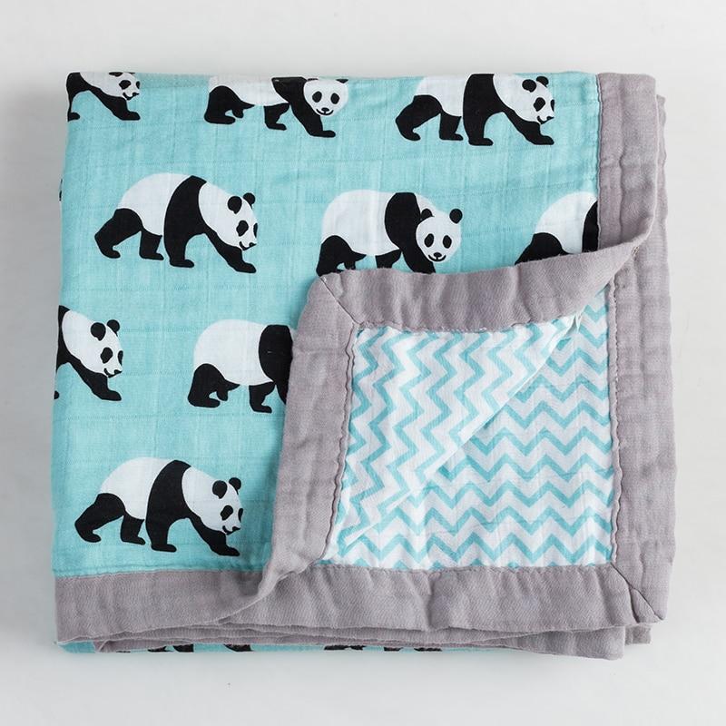 Baby Wrap Cotton blanket Multifunctional 2 layer Muslin Baby Newborns Blanket Baby Swaddle Blanket 120 120cm