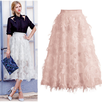 f1be77690 Sherhure 2018 mujeres verano Falda larga algodón Lino mujeres Faldas Rosa  alta cintura Boho mujeres ...