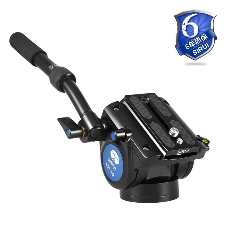Sirui tête fluide pour caméra trépied jambe Unipod monopode tête à rotule professionnelle aluminium tête vidéo 360 caméra Panorama DHL VH10